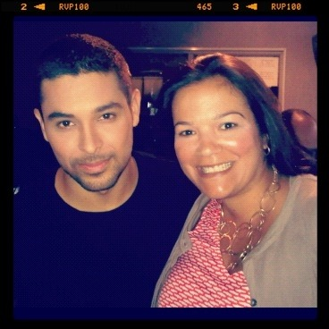 Wilmer Valderrama after Al Punto interview with @jorgeramosnews stopped by the control room.