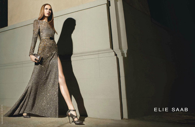 Elie Saab's Sparkly Evening Gown for Karlie Kloss