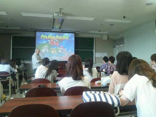 """And our final English lesson is…Mario Kart 64!""  My buddy teaching in Japan makes the last day of english classes fun by having a MK64 tournament…in english!"