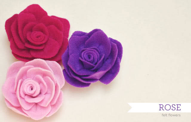 Cute and easy felt roses from this tutorial at How Joyful.