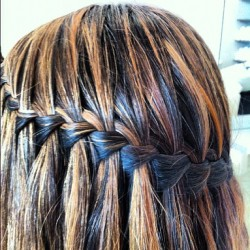 Who doesn't love a waterfall braid? #love #hair #beauty #plush #plushblow #braid #instabraid #style #fashion #hairstyle # (Taken with Instagram at PlushBLOW Greenwich)
