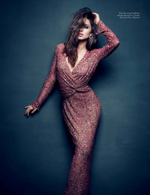 Miranda Kerr in Jenny Packham photographed by Nino Muñoz for Haute Muse Spring 2012.