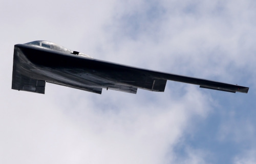 "Aviation Adventure 7/21/12: McChord AFB Airshow Northrop B-2 Spirit bomber making a pass during the show. Turns out this aircraft is named ""Spirit of Washington"" (all B-2s are named after states)"