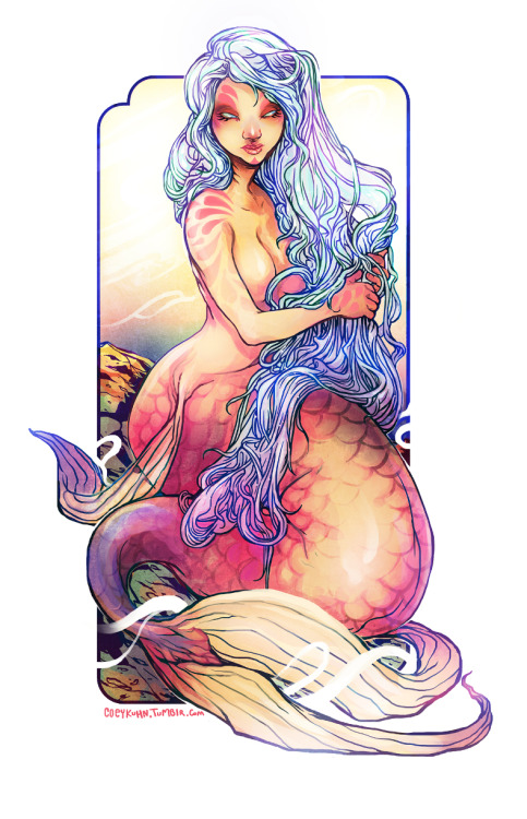 oops, ignored next monster girl to color mermaid @ v @ ;;;; oops. I'll get back on that soon. till then- spaz colored murmurrrrd to make up for all the btw sherlock art puff.-COEY!____