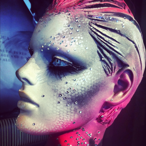 karlapowellmua:  Look at Illamasqua's amazing makeup on this Mannequin! Again I am always inspired by makeup on mannequins! Just look at this beautiful contouring and airbrush work?! It just makes me want to get my airbrush makeup kit out and play! In love… Karla X