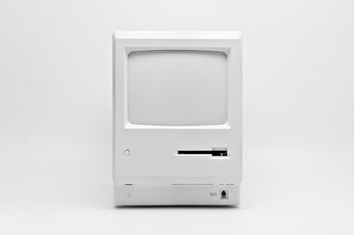 Branded objects in white - Macintosh