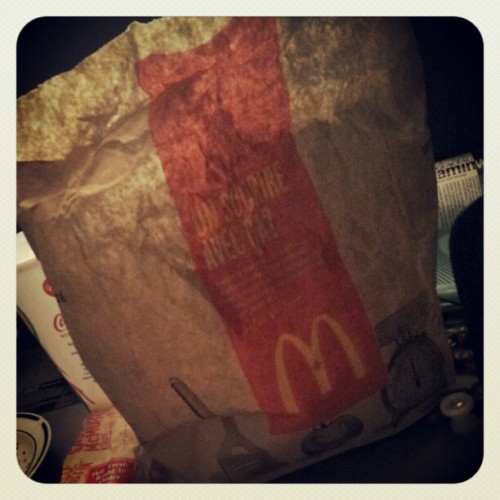 Woke up to a special delivery from my baby #love #mcdonalds #foodstagram (Taken with Instagram)
