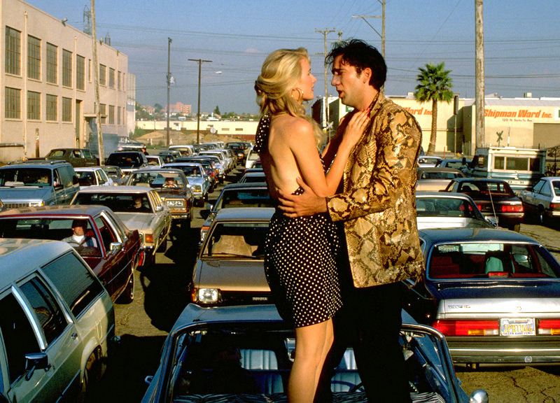 Laura Dern and Nicholas Cage  Wild at Heart (1990) Directed by David Lynch