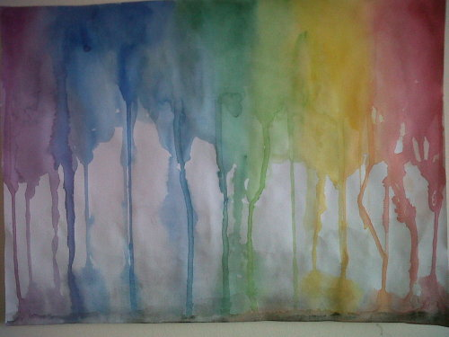 Something I painted this afternoon inspired by the song 'Rain down' by delirious?