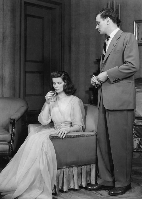 bonaventures:  Katharine Hepburn and Joseph Cotten in The Philadelphia Story (1939).