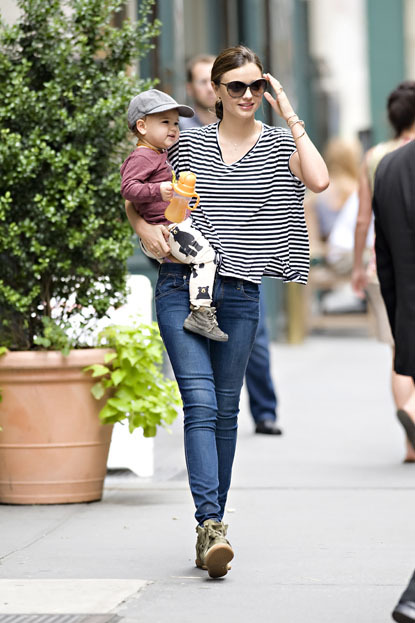 ..How ADORBS is Flynn?? Miranda Kerr seen with her son Flynn while leaving her apartment in NYC on July 20, 2012.