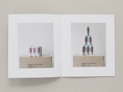 In Six Six Packs, David Schoerner photographs a six-pack, drinks it, and then photographs it again. Hi, neighbor! (via)