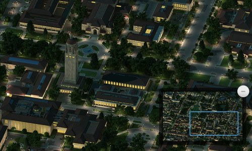 A pretty sweet map of Stanford in 3D
