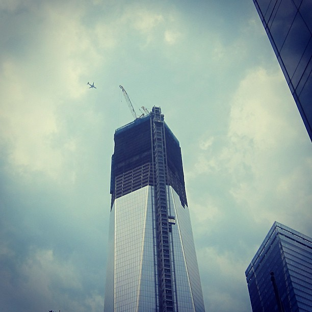 it flew directly overhead. (Taken with Instagram at 1 World Trade Center)