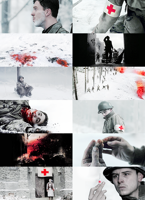 nami64:  color meme → Band of Brothers - Bastogne in white & red (asked by me)
