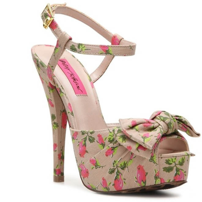 Nothing says Summer like flowery heels. The Betsey Johnson Haylie Sandal has great ankle support too, for those wild dancing nights. Lucky you that we have a few in stock within the eBay closet as low as $59.95. The classic cut never quite goes out of style.