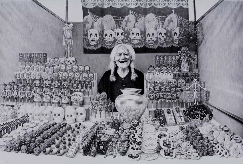 "kitschyliving:  ""The Sweets Seller"" - Laurie Lipton"