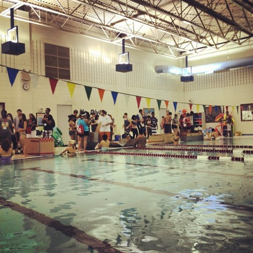 Getting ready for the cardboard boat race (Taken with Instagram at Cook/Douglass Recreation Center)