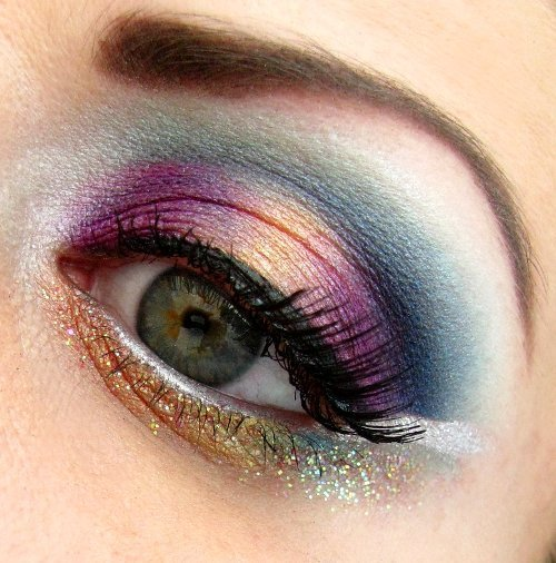 Pretty jewel-toned eye makeup by Natalia U.!