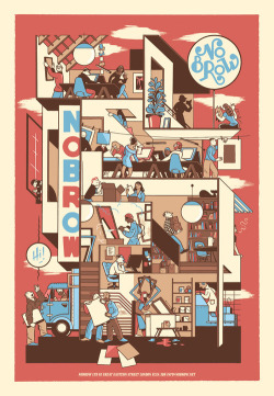 iconoclassic:  stopmakingsandwiches: Promo poster for NoBrow publishing