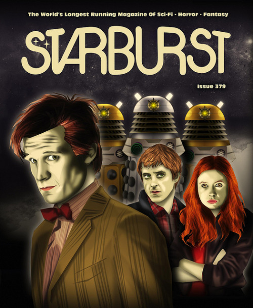 Starburst Magazine 379: Doctor Who on Flickr. Via Flickr: Knock, Knock! Who's there? Doctor! Doctor W…..ok I guess you've probably heard that one. Don't worry though as there's a new issue of Starburst Magazine out in all good newsagents today that fortunately doesn't have any of my crummy jokes in it but does have my artwork on the cover and a bumper 30 pages of 'Who' filled fun by J.R. Southall inside. Last one to reverse the polarities is a rotten egg…. http://www.starburstmagazine.com/store?page=shop.product_details&flypage=flypage.tpl&product_id=26&category_id=3