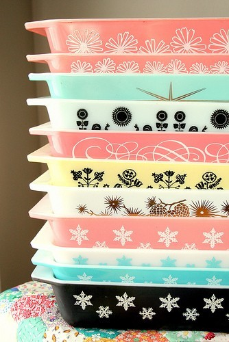 trippingoverjoy:  I want all of these pyrex dishes.