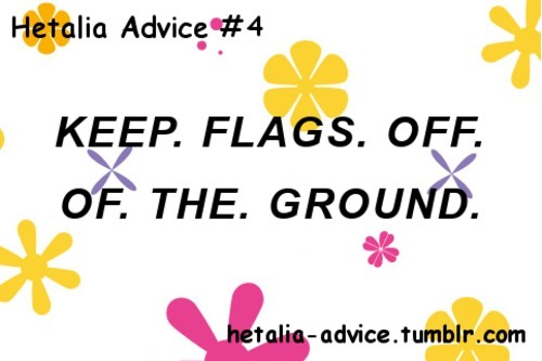 For cosplaying, and I cannot stress this enough, KEEP. FLAGS. OFF. OF. THE. GROUND.