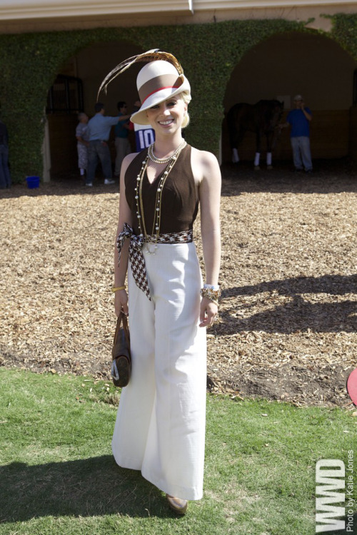 womensweardaily:  They Are Wearing: Del Mar Race Track  love this