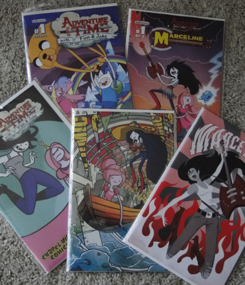 All my Adventure Time #1s (2 Adventure Time, 3 Marceline & the Scream Queens)I think I may have a problem…
