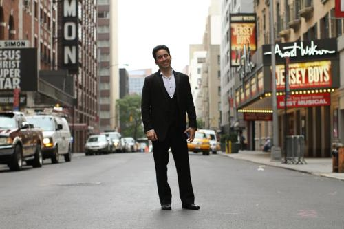 humansofnewyork:  John Lloyd Young won a Tony and a Grammy for his portrayal of Frankie Valli in Jersey Boys. He's back in town for three months, guest starring in his old role. After seeing the show last week, I fired off an email hoping to get a photograph. He's doing eight shows a week, but agreed to meet me this afternoon before he went into the August Wilson theater.John spent the few minutes we had together talking about HONY, which really caught me off guard. I wasn't sure he'd even had the chance to look at the blog, and here he is expressing a very detailed appreciation. He barely left me time to tell him how much I loved his performance.Anyway, John Lloyd Young: Tony winner, Grammy winner, really nice dude. If you haven't seen him in Jersey Boys— you're really missing out.