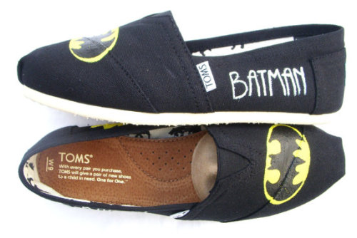 Hand Painted 'Batman' TOMS Espadrilles