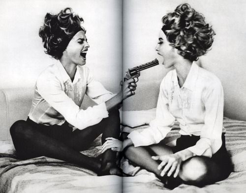 from SnapsLinda Evangelista and Christy Turlingtonby Ellen von Unwerth(Twin Palms Pub, 1994)