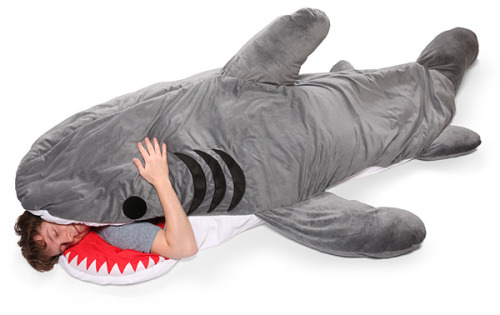 laughingsquid:  Chumbuddy Sleeping Bag, Looks Like a Shark is Eating You Alive  WANT!!!!