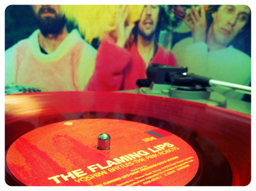 Used Vinyl  The Flaming Lips - Yoshimi Battles the Pink Robots. (import, limited edition red vinyl)  The album that kick started my love for the flaming lips.