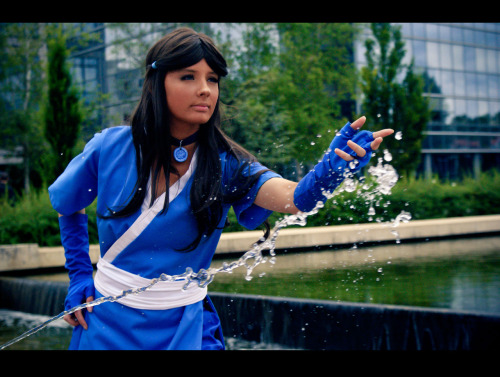 """It's not magic. It's Water Bending."" — Katara — Character: Katara - Avatar Cosplayer: sugar-owl Photographer by Lauren Event: Japanexpo"