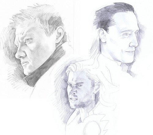 Did some avengers portraits to get some practice in.