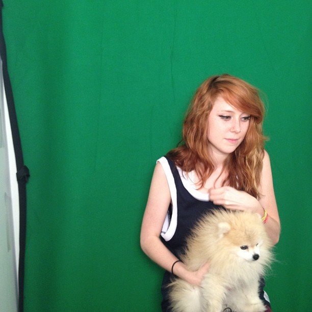 Kitty Pryde stopped by Tumblr HQ yesterday for a visit with TommyPom. Girl rappers + adorable pomeranians = THE BEST.