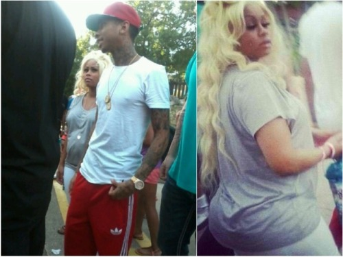 "Rapper Tyga Expecting Child With Girlfriend Blac Chyna Young Money Tyga was spotted out with girlfriend Blac Chyna and her pregnant belly. The couple has been dating for less than a year but have been spotted together everywhere. Former stripper Blac Chyna appears in Tyga's ""Rack City"" video."