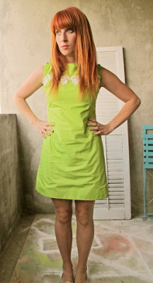 The Key is Lime.  Dress from DoodleVintage