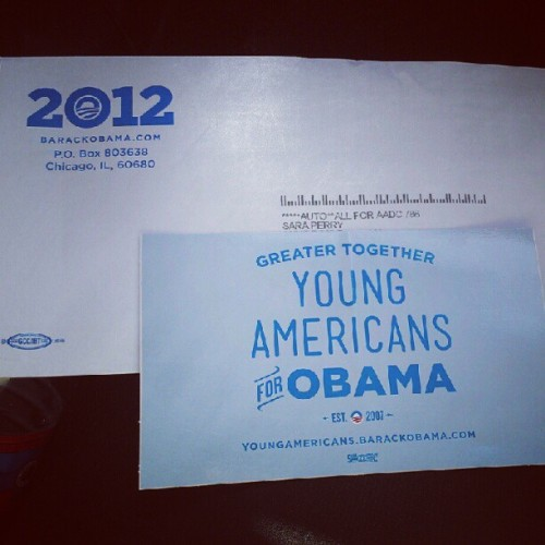 "My ""Young Africans for Osama"" sticker FINALLY CAME. #OBAMA #sticker #bumpersticker #ilikepeoplebehingmeintrafictoknowwhatmyidealsare (Taken with Instagram)"
