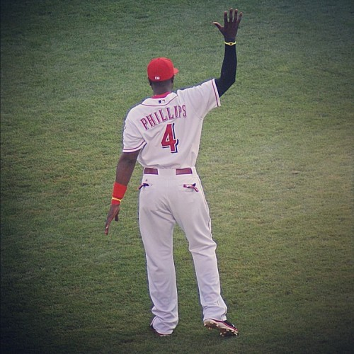 goodvibesandnaturalhighs:  #brandonphillips #phillips #reds #redlegs #cincinnati #cincinnatireds #ballpark #baseball #gcs #gmy #greatamericanballpark #july #jj #igdaily #igaddict #igersohio #instagood #instamood #iphoneedit #iphoneeditonly #igerscincinnati #ohio  (Taken with Instagram)