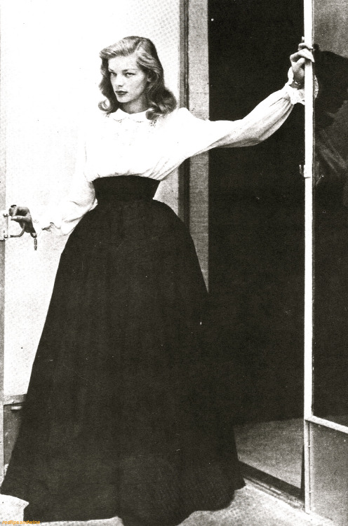"Lauren Bacall In her modeling days. ""The Look"" by then was quite evident."