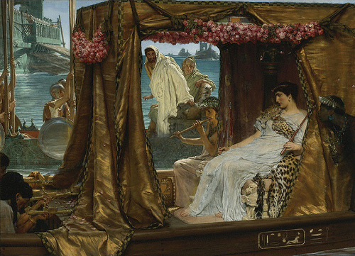 The Meeting of Anthony and Cleopatra Lawrence Alma-Tadema