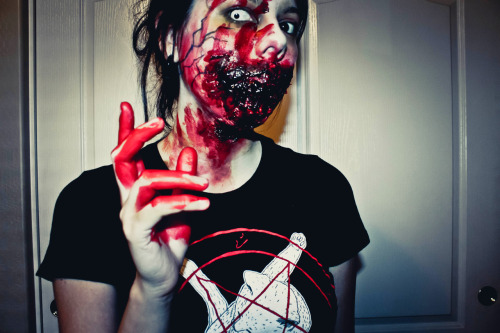kill it w/ fire.  #zombie #horror #gore #blood #makeup