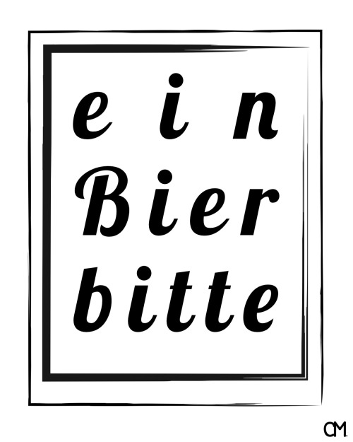 "German for ""a beer please"""