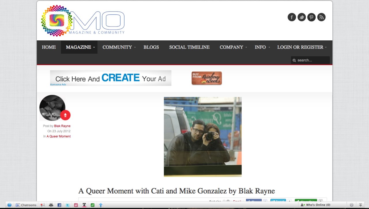 Interview for QMO by Blak Rayne READ ARTICLE