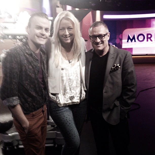 With @joshflinn and @jaysonbrunsdon for Fashion Police (@Mornings9) (Taken with Instagram)
