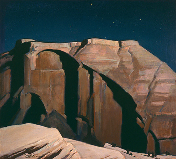 southwestart:  Moonlight Over Zion by Maynard Dixon