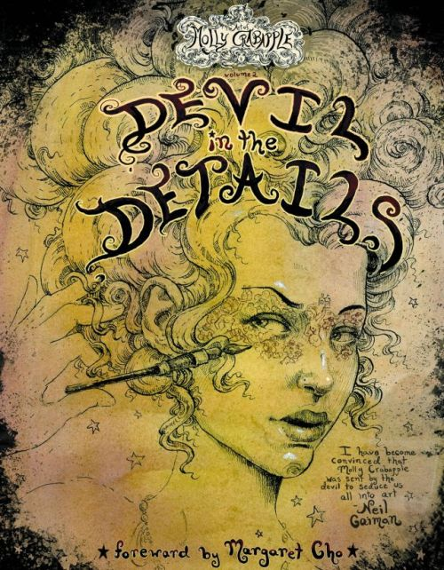 ladiesmakingcomics:  Market Monday The Art of Molly Crabapple Vol. 2: Devil In the Details   Fine artist, illustrator, and comics creator Molly Crabapple captures the absurdity of modern life in intricate, theatrical detail in her fine art work, drawing inspiration from politics, polite (and not-so-polite) society, and hundreds of years of literature. Her work is burlesque-inspired in the broadest definition of the word-deftly satirizing the powerful with adorably sinister animals, steampunk-tinged machinery, and of course, beautiful girls. But it's not all fantastical-when Occupy Wall Street broke out, Molly was there, capturing the immediacy of the revolutionary feeling in pen and ink. In a new 48-page book from IDW, you can get Molly's art in gorgeous full-color, work that's decorated glamorous nightclubs, museums and galleries, and protest signs and occupied spaces around the country.