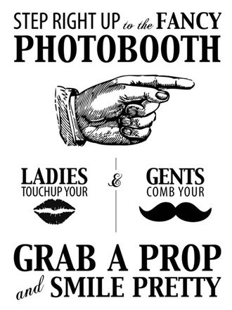 Signage idea {photo booth}